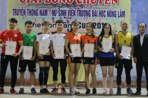 "Closing ceremony of the traditional volleyball competition of ""VIETCOMBANK CUP 2019"" Male and Female students"