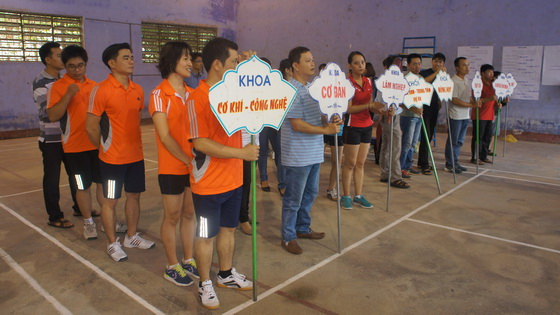 The Badminton Competition for Male- Female staffs of HUAF in 2016