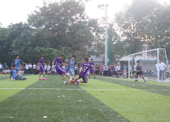 "The final and closing ceremony of Football competition ""SBC CUP"" 2016 for Freshmen K50"