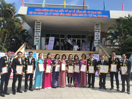 HUAF has won many prizes in the 8th Thua Thien Hue Creative Technology Competition in 2017
