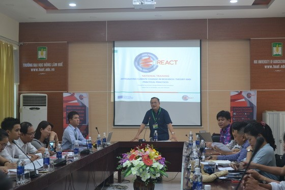 REACT National Replication Training at Hue University of Agriculture and Forestry (HUAF) - Integrating climate change in research: Theory and Practices